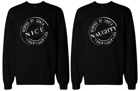 nice and naughty bff black sweatshirts