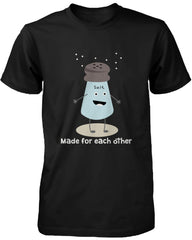 Cute Matching Couple Shirts Salt and Pepper Made for Each Other