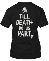 Couple Shirts for Halloween Till Death Do Us Part Party