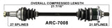 Arctic Cat Front left Right CV axle shaft TrakMotive , 400 TBX , 500TBX , 650 V-2 auto  ARC-7008