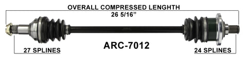 arcitc cat rear axle cv shaft Prowler 650 xtx 700 xtz 1000 baja