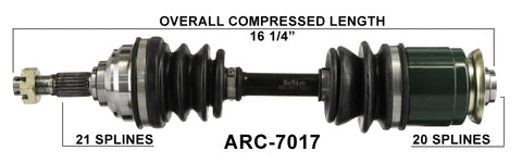 Arctic Cat Front Left CV axle TrakMotive , 250 300 400 500  ARC-7017