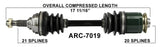 Arctic Cat Front Left or Right CV axle TrakMotive , 250 300 400 500  ARC-7019