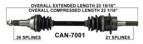 2006-2014 Can-Am Outlander 400 500 650 800 max Front Right CV axle shaft TrakMotive Can-7001