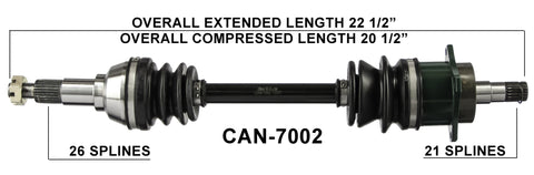 2006-2014 Can-Am Outlander 400 500 650 800 max Front left CV axle shaft TrakMotive Can-7002