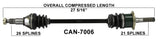 2011-2014 Can-Am Commander 1000 XT LTD 800R Front Right CV axle shaft TrakMotive Can-7006