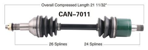 2006-2007 Can-Am Outlander 500 650 800 Max  rear Left CV axle shaft TrakMotive Can-7011