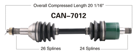 2006-2007 Can-Am Bombardier Outlander 500 650 800 Max  rear right CV axle shaft TrakMotive Can-7012