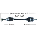 1999-2005 Bombardier Quest traxter front left CV axle shaft