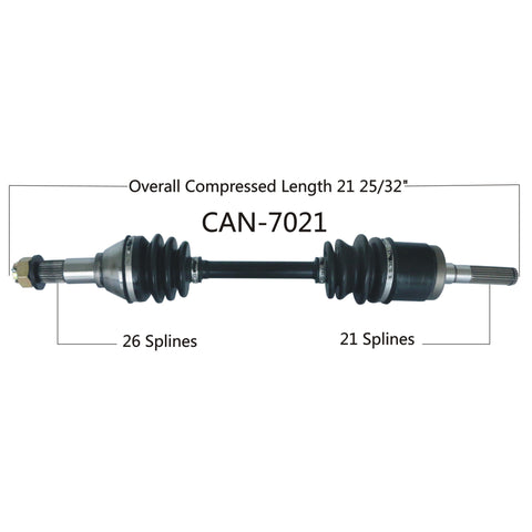2013-2019 Can Am Outlander 500 570 650 800 850 1000 Renegade  front right CV axle shaft
