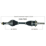 2013-1018  Can Am Outlander 650 800 850 1000r Renegade 1000r xmr front right CV axle shaft