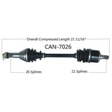 2004-2005 Can Am Outlander 330 HO 400 HO Max  Rear Left CV axle shaft