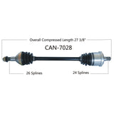 2014-2015  Can Am Maverick 1000r XXC Rear Left or right CV axle shaft