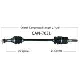 2014-2016  Can Am Maverick 1000r XC XXC Front right CV axle shaft