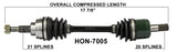 2000-2014 Honda TRX350FE Rancher TRX420FA Front right left CV axle shaft TrakMotive HON-7005