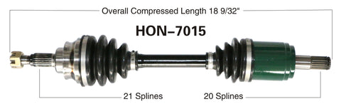 2003-2004 Honda TRX650FA Rincon 650 Front left CV axle shaft TrakMotive HON-7015