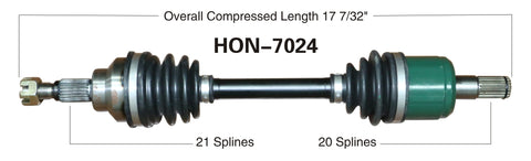 1995-2001 Honda TRX400FW  front left CV axle shaft TrakMotive HON-7024
