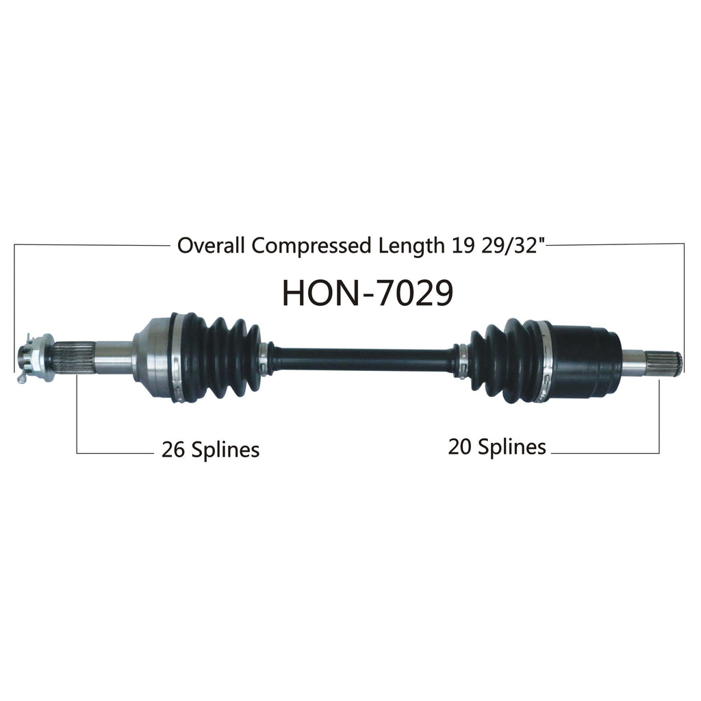 2015-2016 HONDA TRX500 RUBICON AUTO DCT EPS DELUXE  COMPLETE CV AXLE FRONT RIGHT