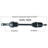 2014-2019 Honda Rubicon TRX500 Fourtrax foreman front right CV axle shaft