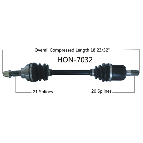 2002-2003 HondaTRX400FW Foreman 4x4  front right CV axle shaft