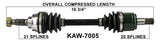 2002-2013  Kawasaki KVF360 KVF650 KVF700 Prairie Brute Force Front right CV axle shaft TrakMotive KAW-7005