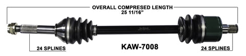 2008-2011 Kawasaki Teryx KRF750 rear right CV axle shaft TrakMotive KAW-7008