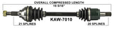 2005-2013 Kawasaki KVF650 KVF700 Brute Force 650 750 Front right CV axle shaft TrakMotive KAW-7010