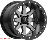 "MSA M21 Lok Charcoal Tint Gunmetal  14"" 15""16""  Wheel ATV/UTV"