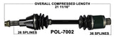 Polaris rear axle cv shaft sportsman 335 400 500 ho
