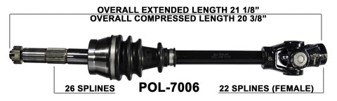 1994-2009 Polaris Sportsman 300 450 800 EFI front cv axle shafts