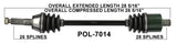 2010-2013 Polaris ranger 800/ 800 crew xple EFI EPS Rear axle cv shaft