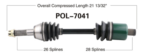 2012-2014 Poaris Ranger RZR 570 Rear axle shafts cv Trakmotive