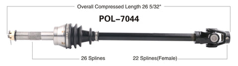 1999 Polaris Ranger 500 6x6 front cv axle shaft