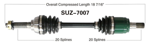 2002-2012 Suzuki LT-A400f Eiger Kingquad 400 Front left CV axle shaft TrakMotive SUZ-7007