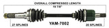 1995-2001 Yamaha Wolverine Big Bear Kodiak Front atv cv axles trakmotive