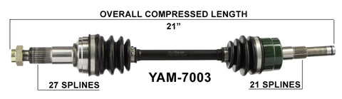 2003-2008 Yamaha Grizzly 660 YFM660F front axles cv shafts