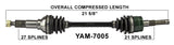 2002 Yamaha Grizzly 660 YFM660 left front cv axle trakmotive