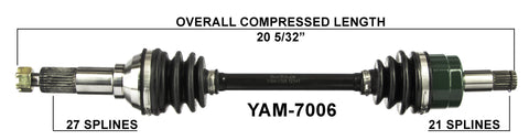 2002 Yamaha Grizzly 660 YFM660F Front right CV axle shaft TrakMotive