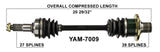 2003-2008 Yamaha Grizzly 660 YFM660F Rear Left CV axle shaft TrakMotive YAM-7009