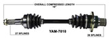 2003-2008 Yamaha Grizzly 660 YFM660F rear right CV axle shaft TrakMotive YAM-7010