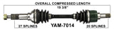1999-2001 Grizzly 600 YFM600FW Front right left CV axle shaft TrakMotive YAM-7014