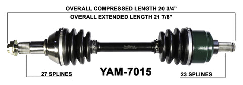 2007-2014 Grizzly 550 FI YFM550 Rear right left CV axle shaft TrakMotive YAM-7015