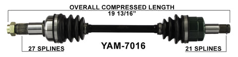 2007-2014 Grizzly 550 FI YFM550 Front right left CV axle shaft TrakMotive YAM-7016