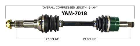 2007-2012 Yamaha Grizzly 450 350 big Bear 400 front left axle
