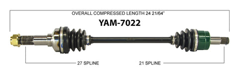 2008-2013 Yamaha YXR700F Rhino Front left right CV axle shaft TrakMotive YAM-7022