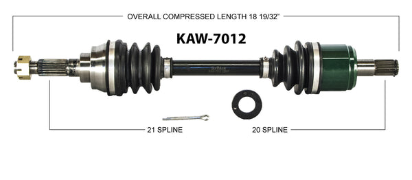 1999-2002 Kawasaki KVF360 Prairie Ft right left front axle