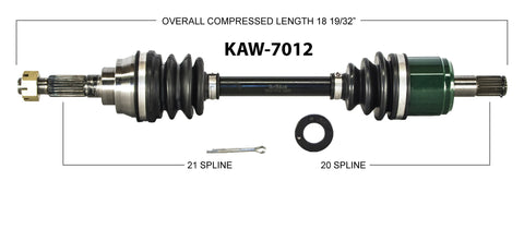 1999-2002  Kawasaki KVF360 Prairie  Front right left CV axle shaft TrakMotive KAW-7012