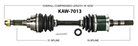 1989-2004 Kawasaki KLF300 Bayou 4x4 Front right left CV axle shaft TrakMotive KAW-7013