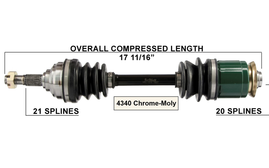 Complete Rear Left //Right CV Joint Axle for Polaris Sportsman//Hawkeye 300 400