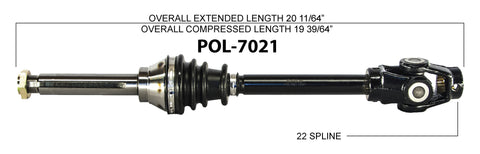 1987-1988  Polaris Trail Boss 250 Front Right Left CV axle shaft TrakMotive POL-7021